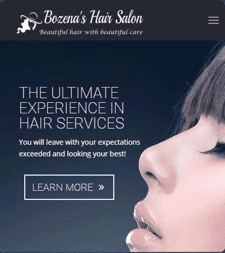 website design services example-5: Bozena's Hair Salon