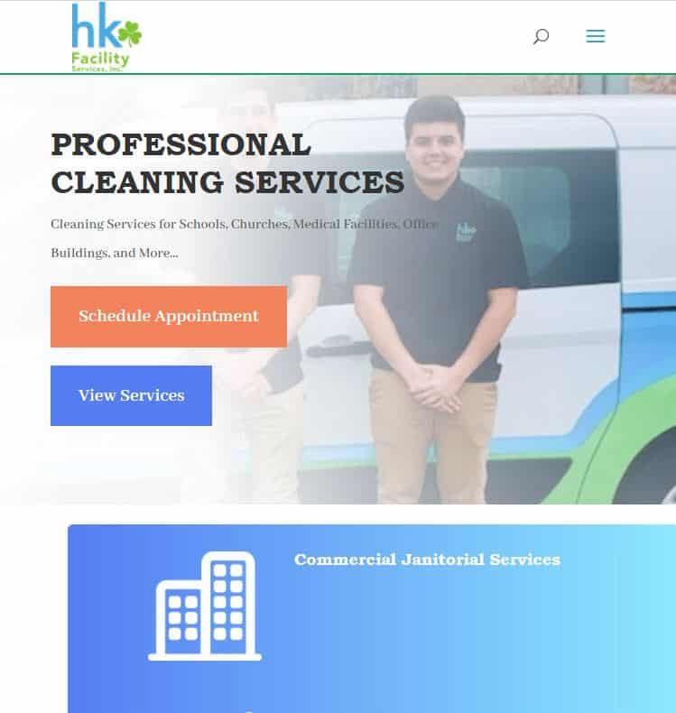 website development services  example-6: HkFacility