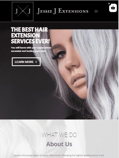website design services example-1: Jessie J Extensions